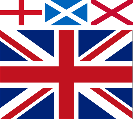 When Three Become One: The Union Jack is formed from the flags of the patron saints of three of the home nations.