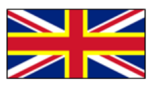 The current UK flag with Wales' patron saint, St. David, recognised.